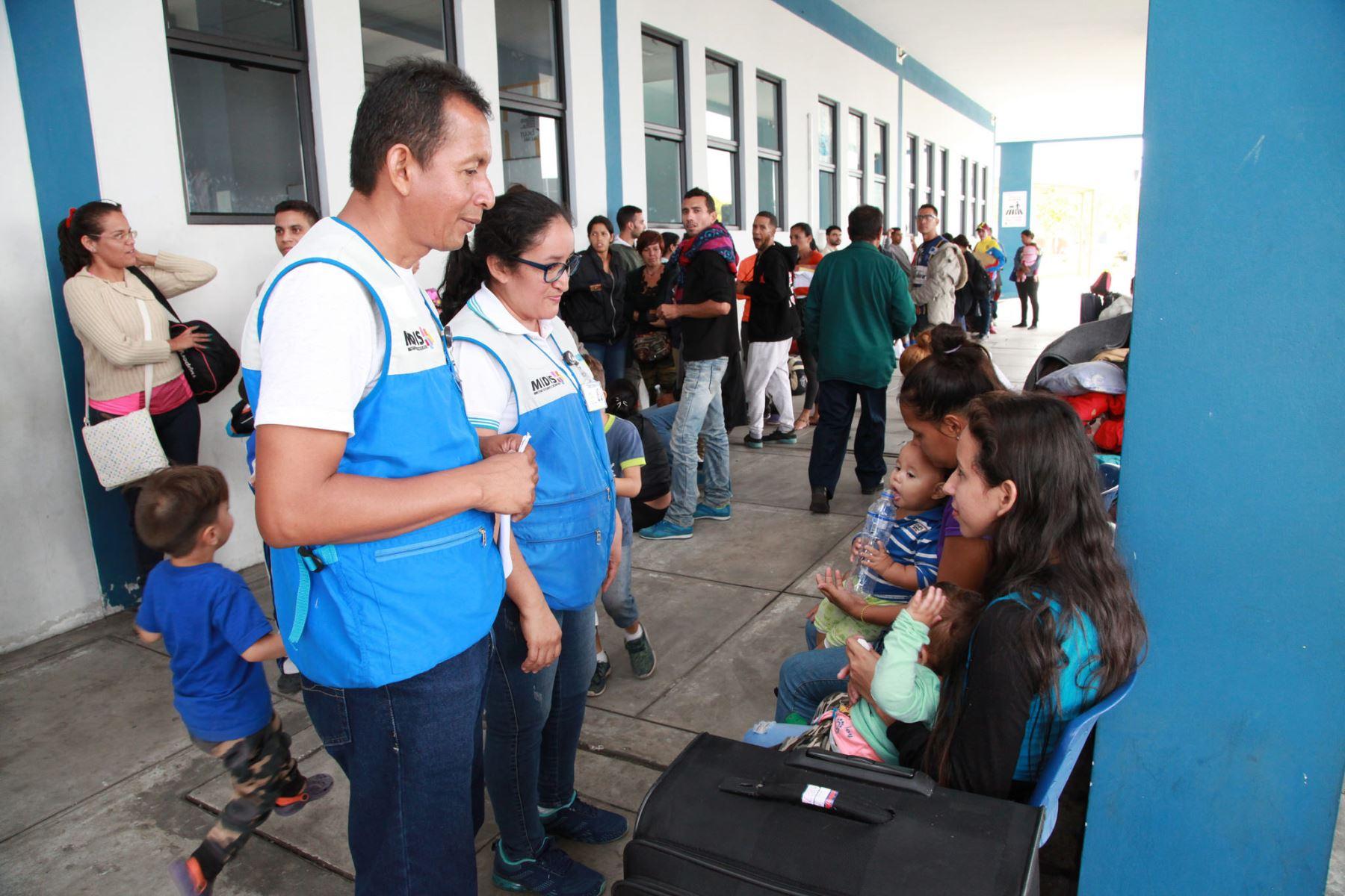 Cuna Más amplía su atención para niños venezolanos en Tumbes. ANDINA/Difusión