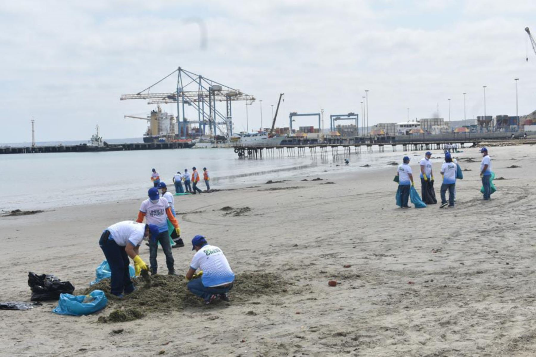 Realizan campaña de limpieza en playa El Toril en Paita, Piura. ANDINA/Difusión