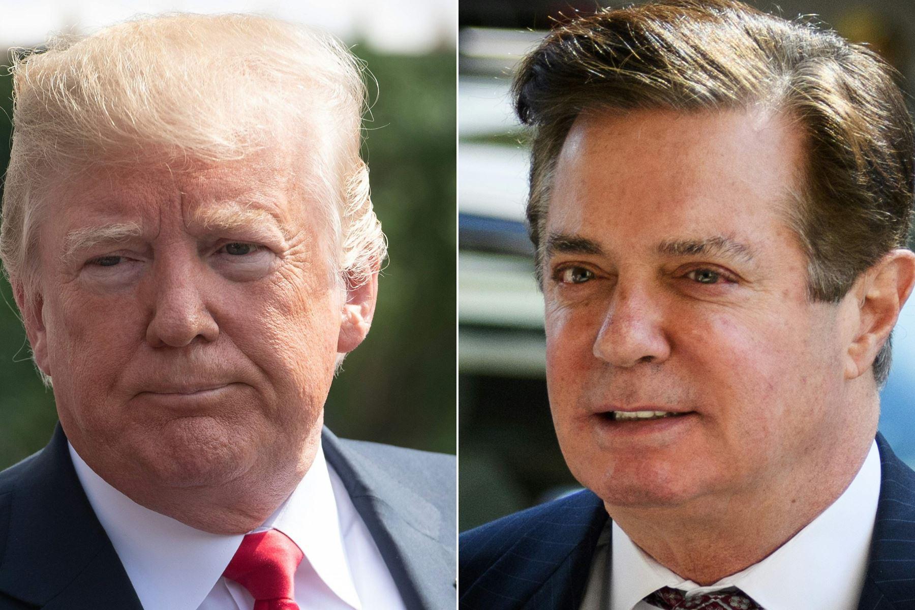Foto del presidente de EE. UU. Donald Trump y Paul Manafort Foto: AFP