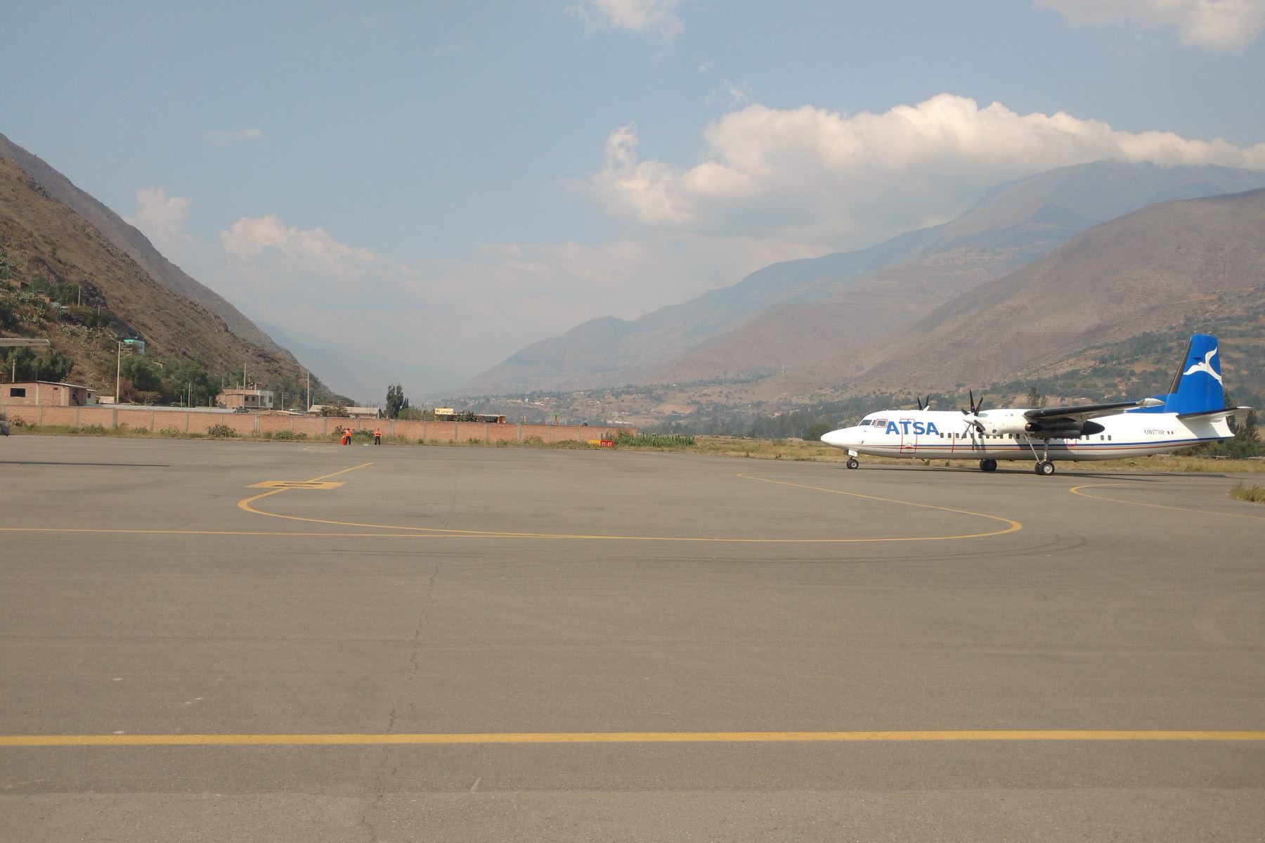 Destacan ingreso de nuevas aerolíneas al aeropuerto de Huánuco. ANDINA/Difusión