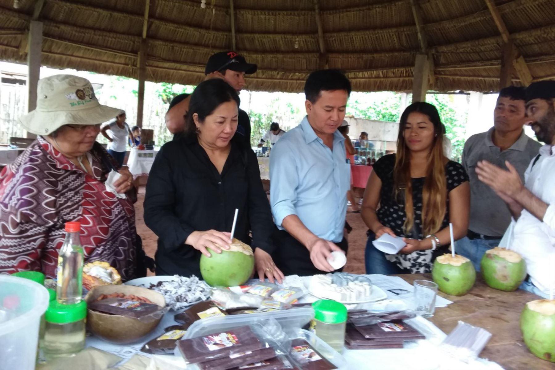 Científicos de Tailandia estudian propiedades de plantas amazónicas en San Martín. ANDINA