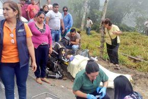 Fotografías de accidente en la provincia de El Oro, Ecuador Foto: @RosaLuzLM/Twitter