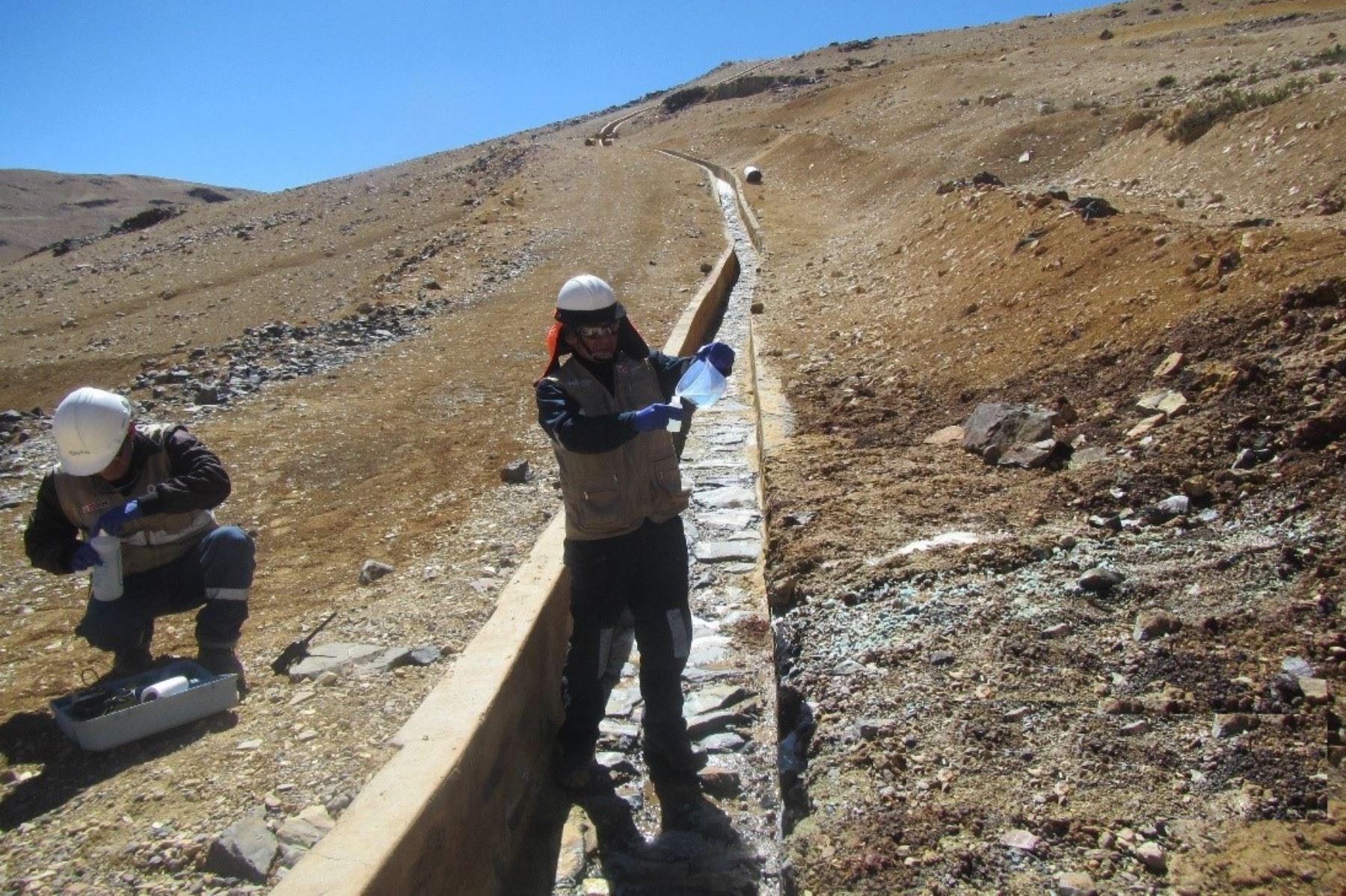 Lluvias provocaron discurrimiento de líquido de unidad minera en Moquegua. ANDINA/Archivo