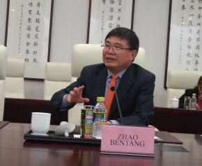 Funcionario del Ministerio de Relaciones Exteriores de China, Zhao Bentang.