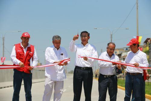 Presidente Vizcarra entrega obras de mejoramiento en la avenida Sánchez Cerro, en Piura