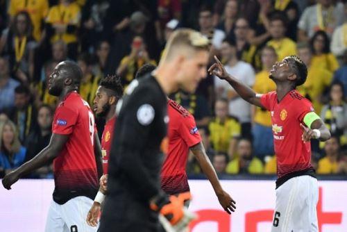 Pogba anotó un doblete en el triunfo del Manchster United