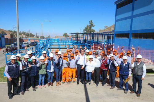 Presidente Vizcarra,visitó planta de tratamiento La Joya, en Arequipa