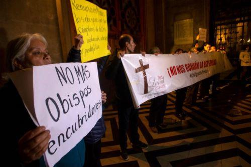 Protestas en Chile por los escándalos de abuso sexual por parte de miembros de la Iglesia. Foto: AFP