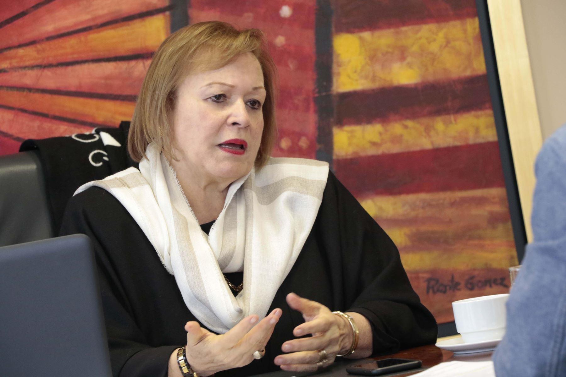 Yolanda Torriani, presidente de la Cámara de Comercio de Lima (CCL). Cortesía