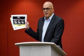 Ministro de Comunicación de Venezuela, Jorge Rodríguez Foto: EFE