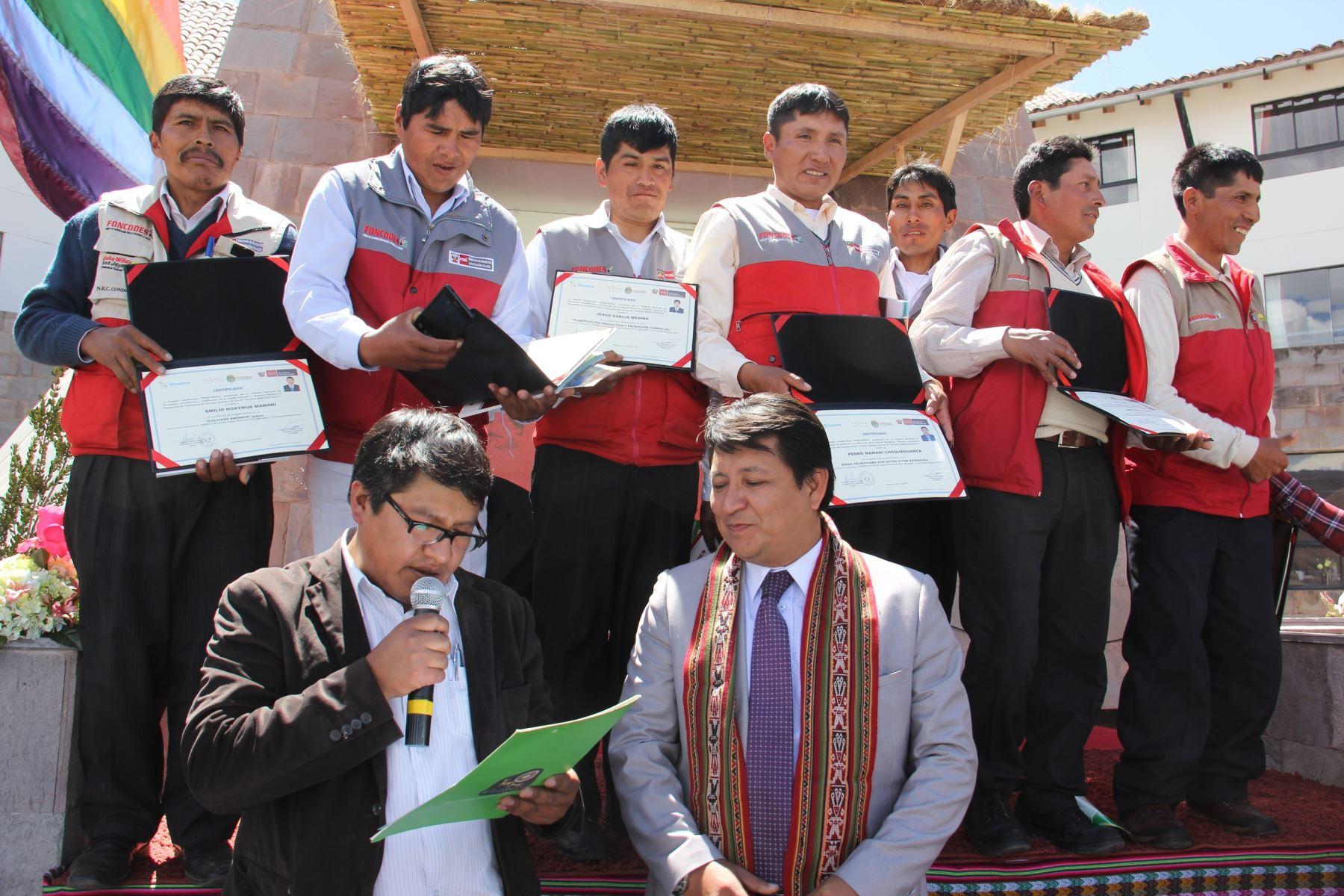 Expertos de la FAO y Banco Mundial destacan aporte de los yachachiq. ANDINA/Difusión