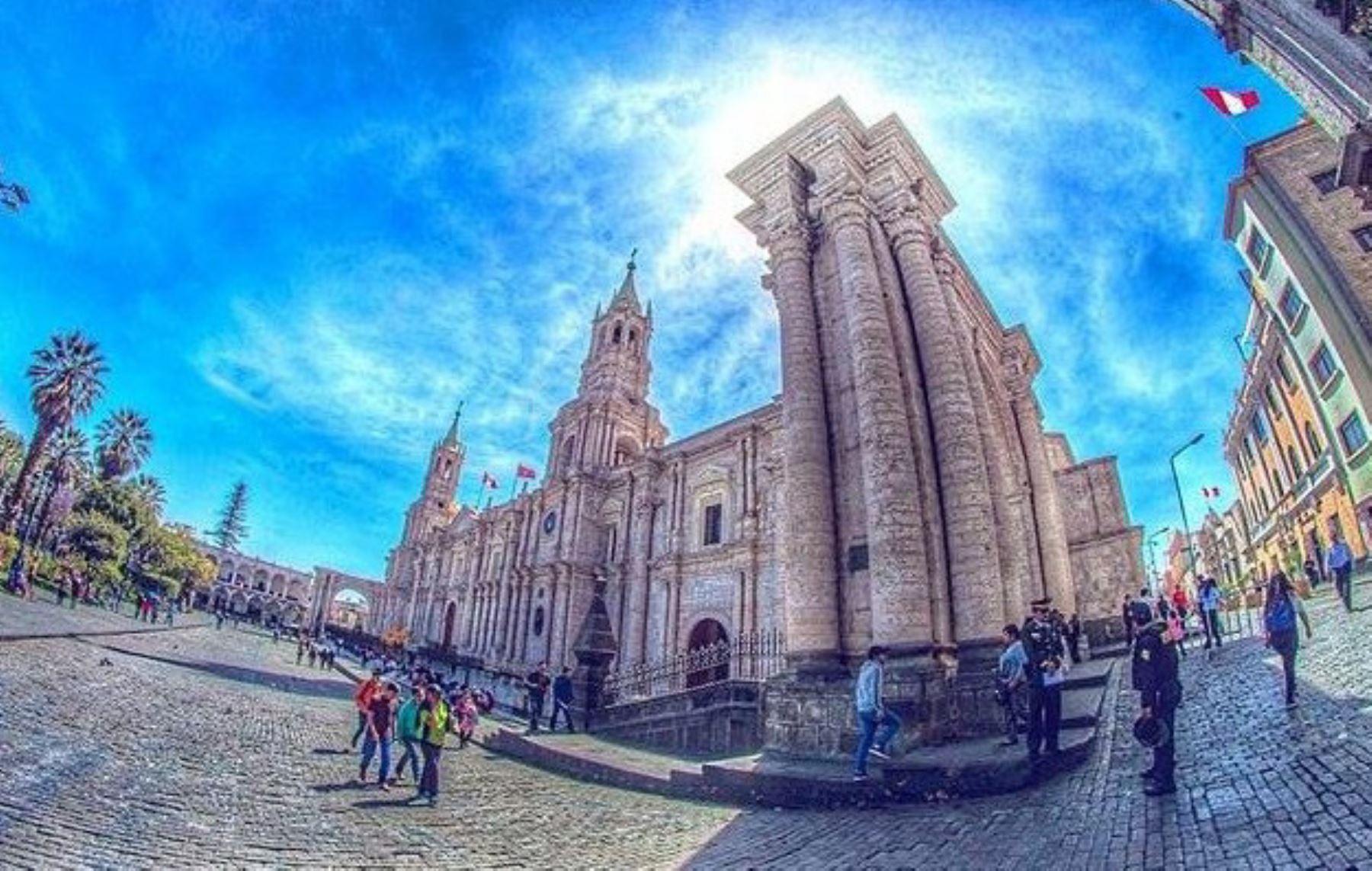 Fotografía de la Catedral de Arequipa. Foto: Facebook/Wiki Love Monuments