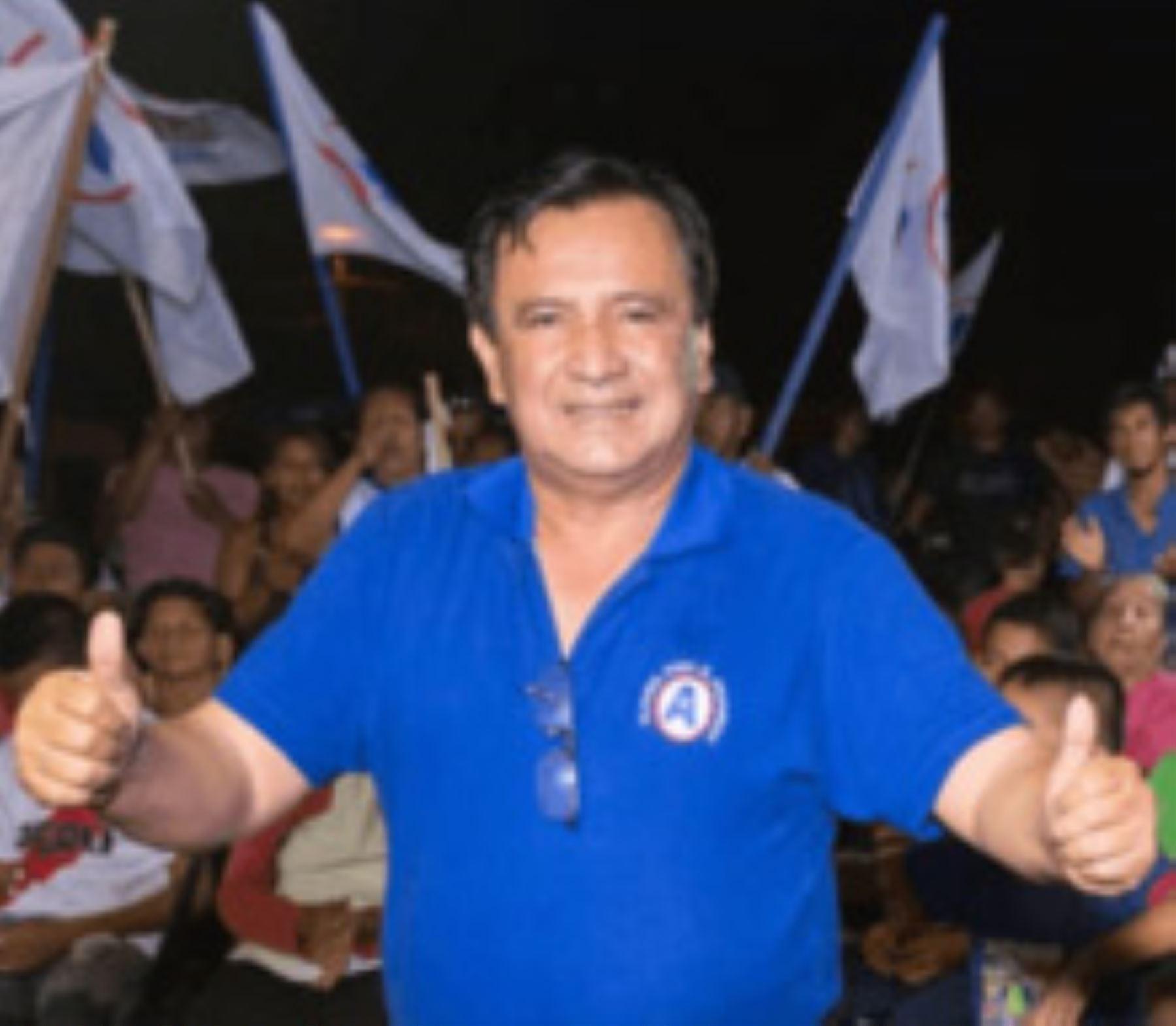 El candidato Francisco Pezo (Alianza para el Progreso) sería el flamante gobernador regional de Ucayali, al haber conseguido el 36.2% de los sufragios en los comicios de hoy, según el sondeo a boca de urna de la encuestadora Ipsos Perú.