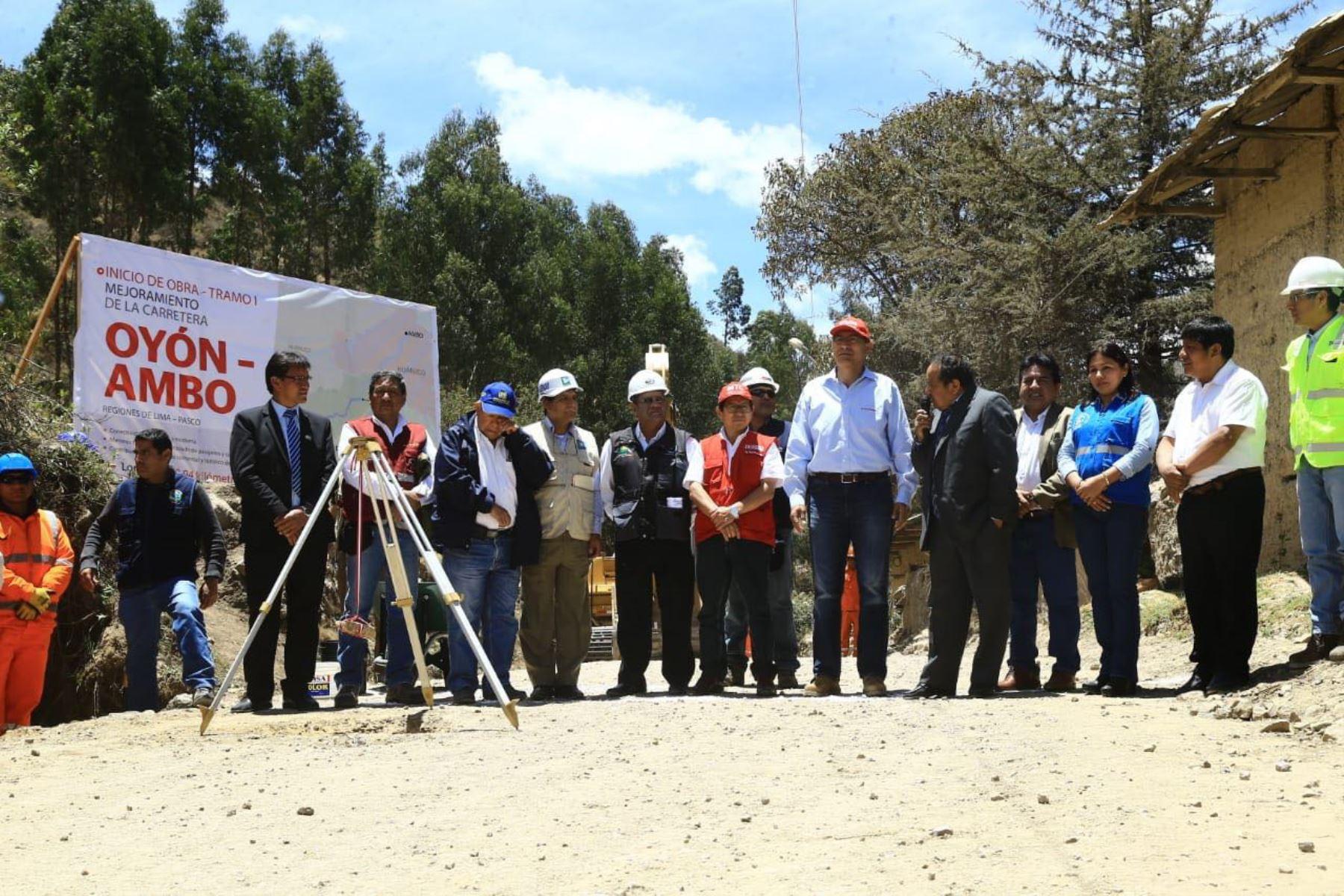MTC inicia obras para el primer tramo de la carretera Oyón–Ambo. ANDINA/Difusión