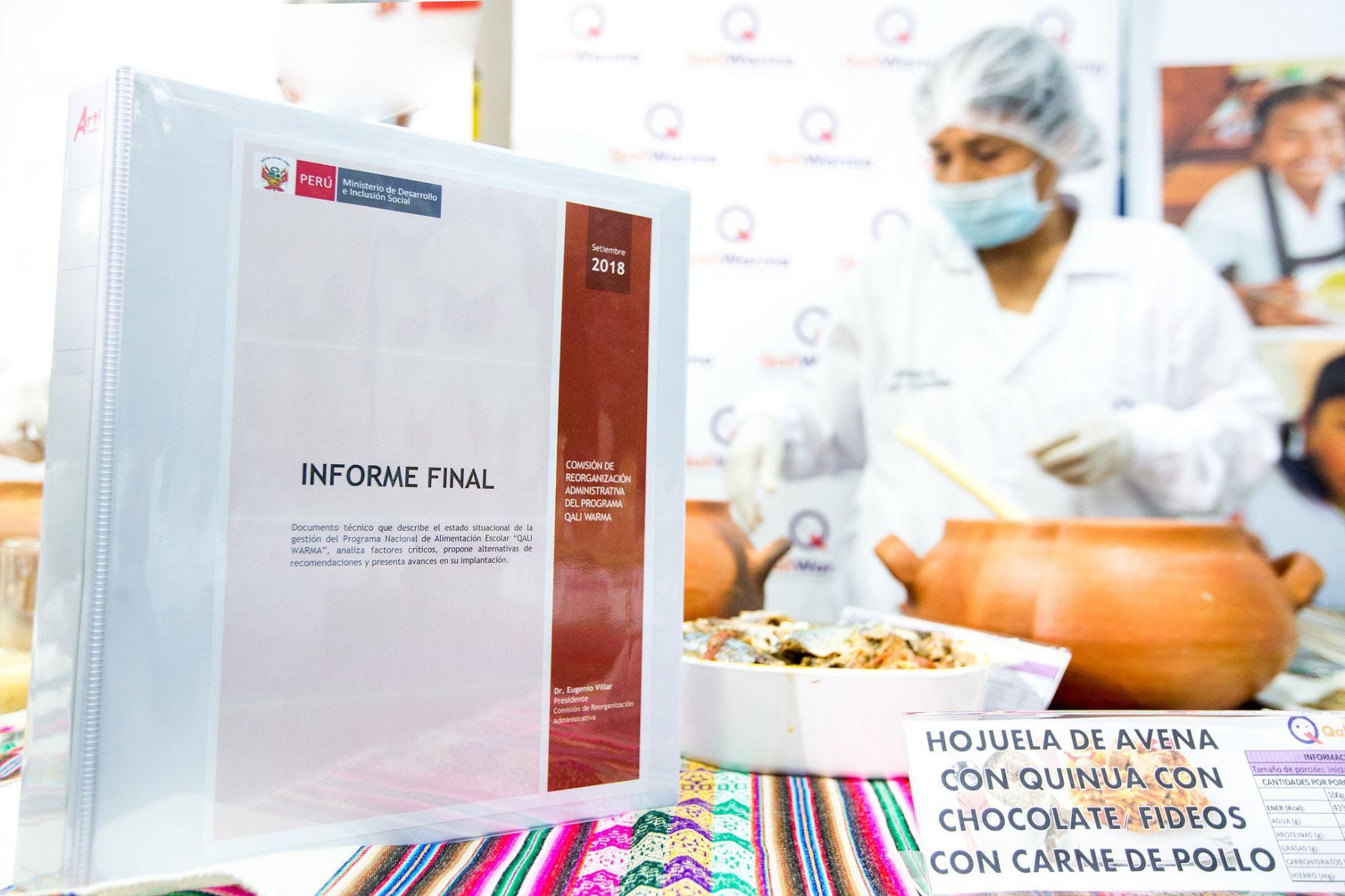 Qali Warma destinará S/ 1,500 millones para alimentación escolar en 2019. ANDINA/Difusión