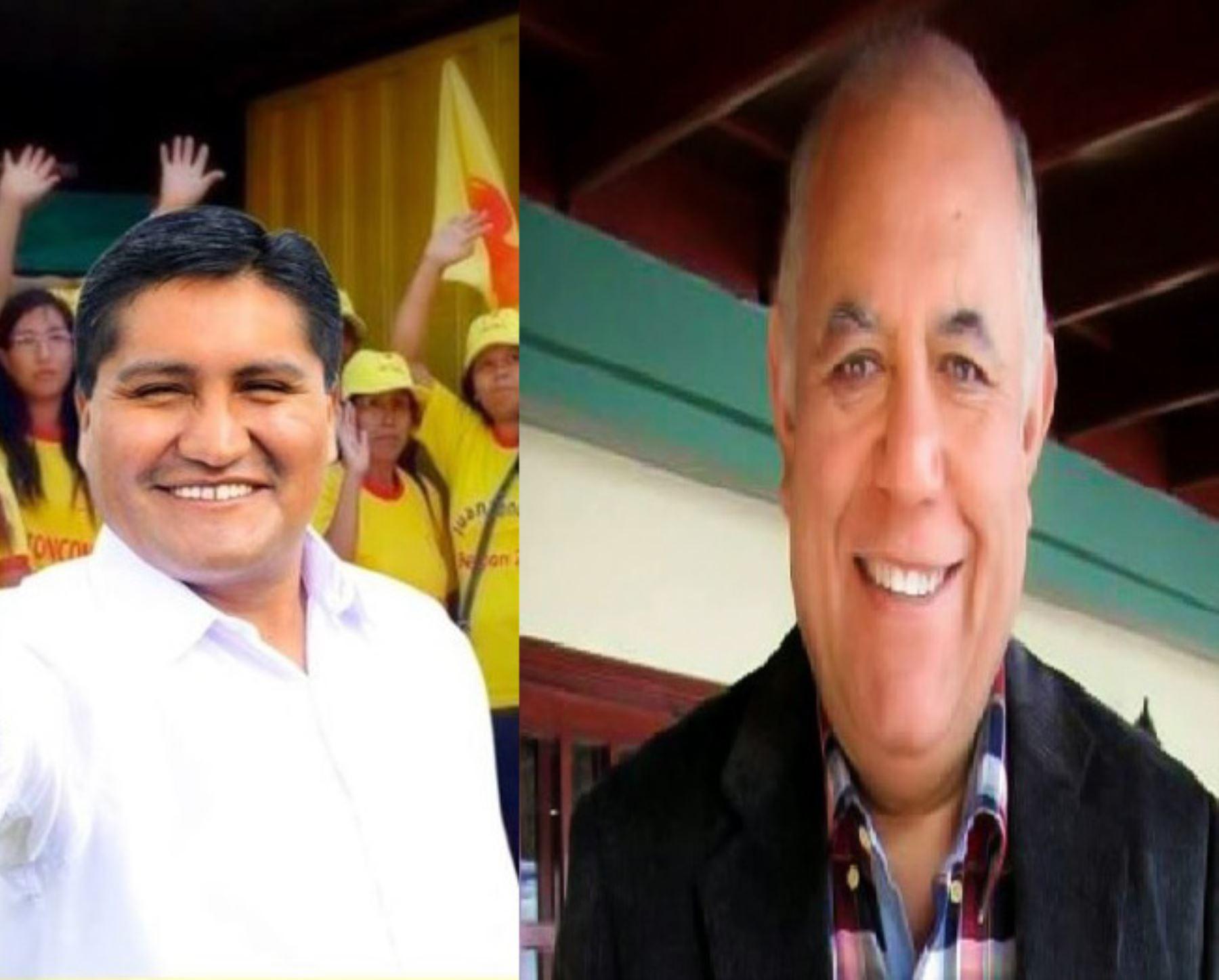 Los candidatos Juan Tonconi (Acción por la Unidad Tacna) y Luis Torres (Movimiento Independiente Regional Tacna) disputarán en segunda vuelta quien será el nuevo gobernador regional de Tacna al no haber alcanzado, en los comicios del reciente domingo, el 30% de los votos exigidos por la Ley de Elecciones Regionales.
