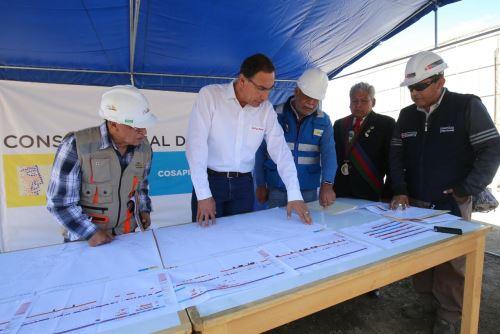 Presidente Vizcarra inspeccionó obras de carretera en Moquegua