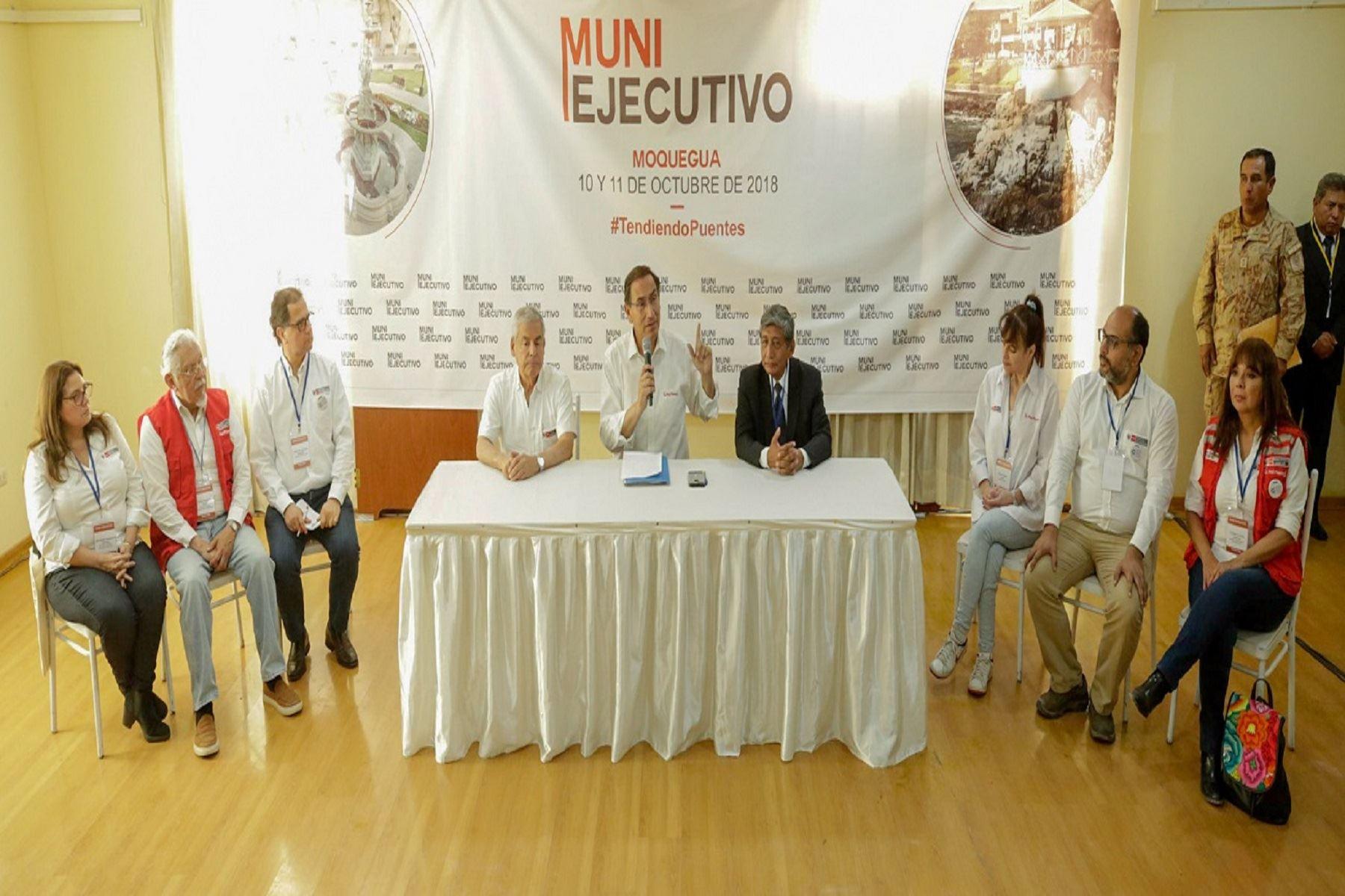 Inversión para Moquegua asciende a más de 330 millones de soles este año Foto: PCM