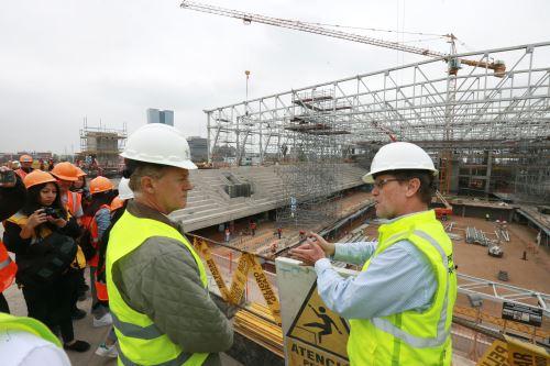 Alcalde electo de Lima Jorge Muñoz recorrió obras de construcción para los XVIII Juegos Panamericanos 2019