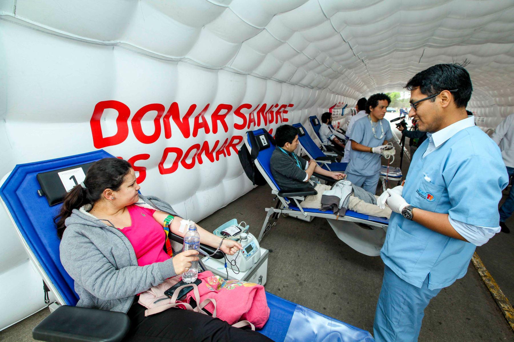 En San Borja funciona primer centro de donación voluntaria de sangre. Foto:Andina/Difusión
