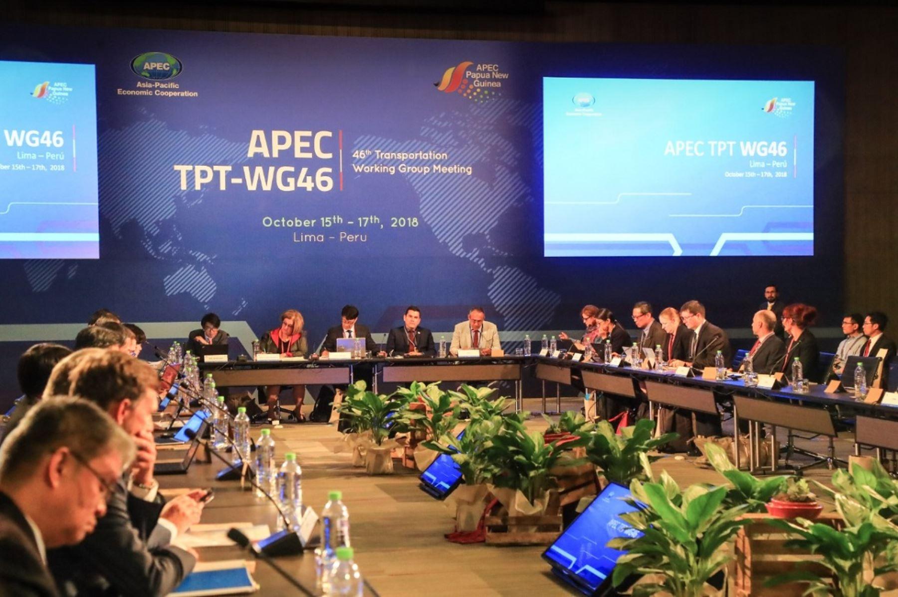 Reunión del grupo de Transporte del APEC en Lima. Foto: Cortesía.