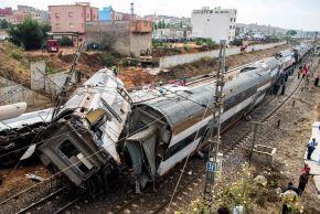 Accidente ferroviario en Marruecos. Foto: AFP.