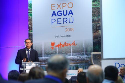 Presidente Vizcarra inaugurò la ExpoAguaPerú 2018