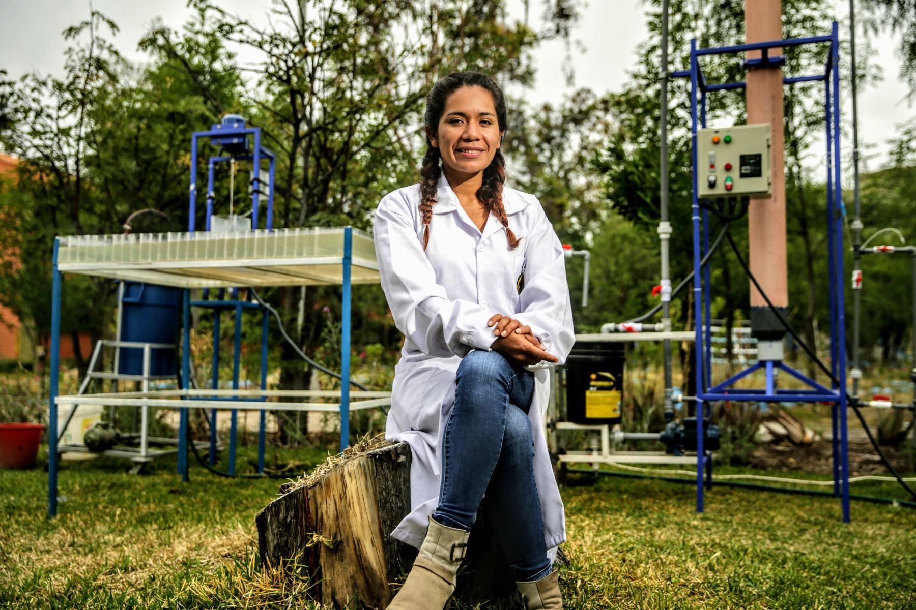 Conozca a Nazia Loayza, la ingeniera peruana que inventó un prototipo para purificar el agua. ANDINA/Luis Iparraguirre