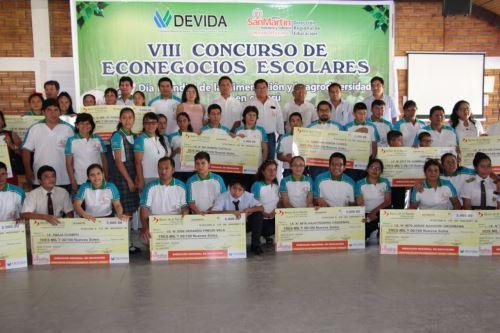 Premian proyectos de econegocios de escolares de San Martín. ANDINA