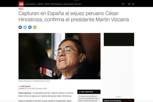 "19/10/2018   ""CNN en Español"".Foto: Internet/Medios."