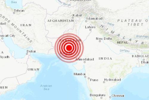 Fuerte sismo en Pakistán Foto: INTERNET/Medios