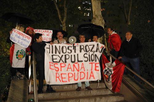 César Hinostroza Ex juez supremo se presentó en la sede de Audiencia Nacional de España