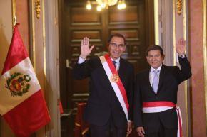 Presidente Martín Vizcarra tomó juramento a ministro del Interior, Carlos Morán.
