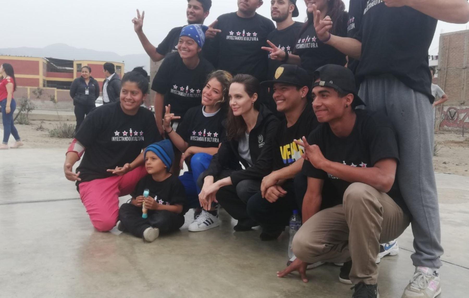 Actriz Angelina Jolie llegó a Lima para reunirse con migrantes venezolanos. Foto: Rosmery Llaja