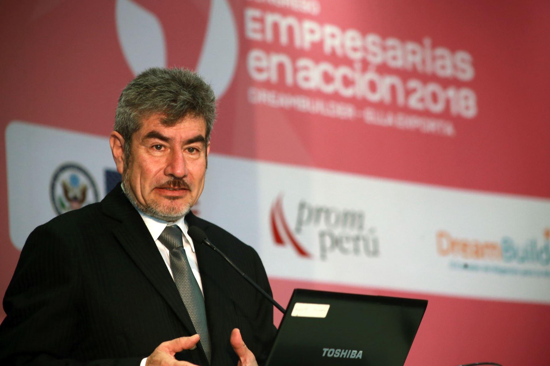 Ministro de Comercio Exterior y Turismo, Rogers Valencia.Foto: ANDINA/Norman Córdova