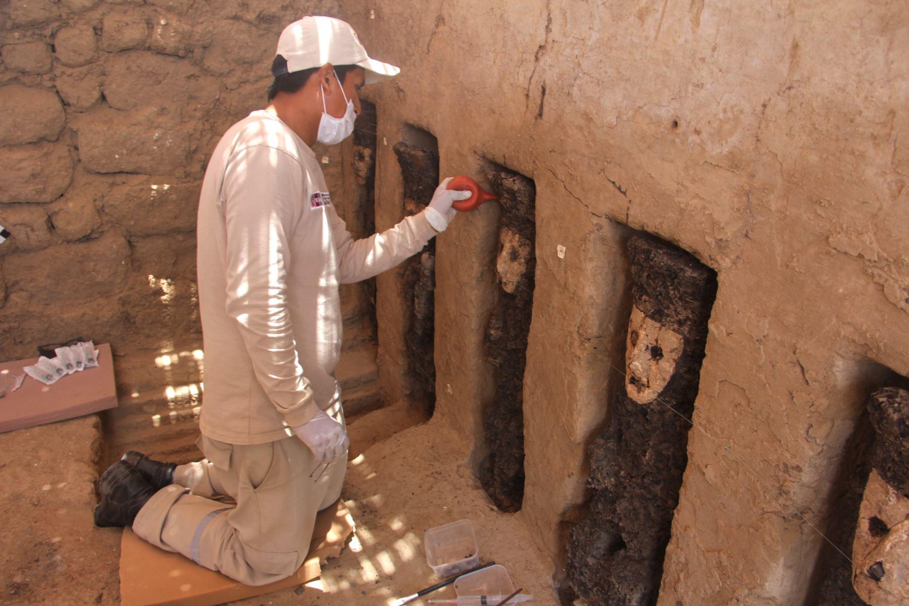 Ídolos descubiertos en Chan Chan entre los 10 mejores hallazgos arqueológicos de 2018. ANDINA/Difusión