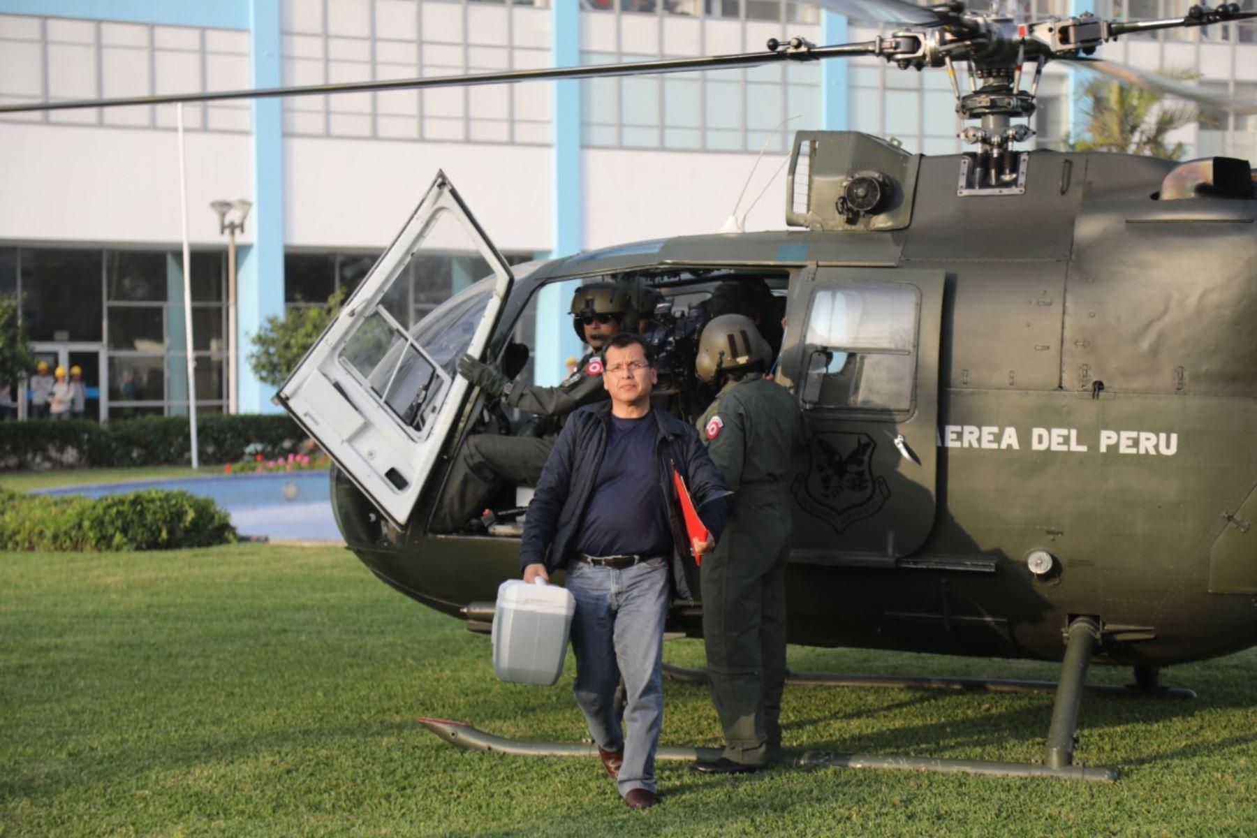 El corazón llego en helicóptero desde el Grupo Aéreo Nº8  hasta el Hospital Nacional Edgardo Rebagliati Martins, para su posterior traslado al Instituto Nacional Cardiovascular-Incor, donde el órgano fue trasplantado. ANDINA/Difusión