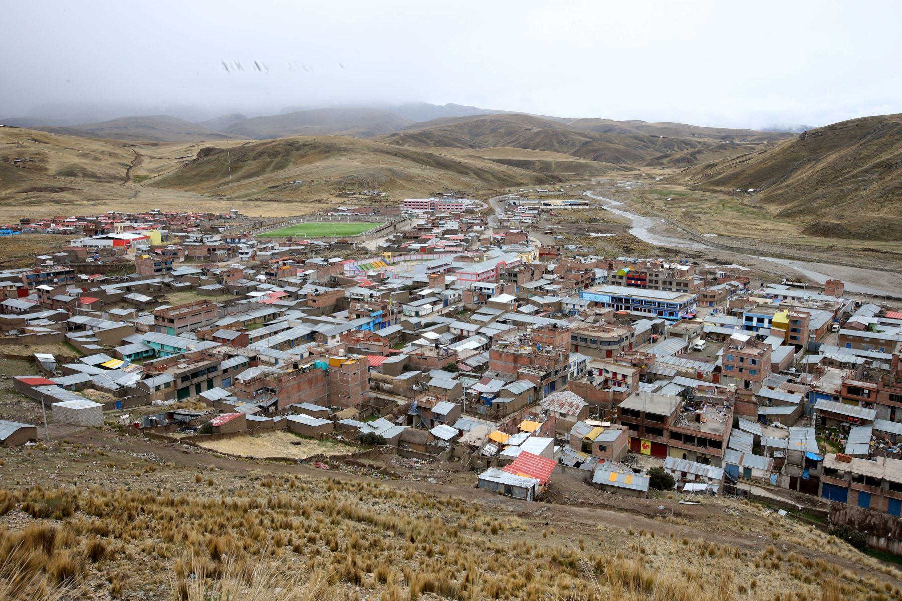 El distrito de Antauta,  Provincia de Juliaca Región - Puno.Esta más de 4,000 metros sobre el nivel del mar.  Foto: ANDINA/Vidal Tarqui