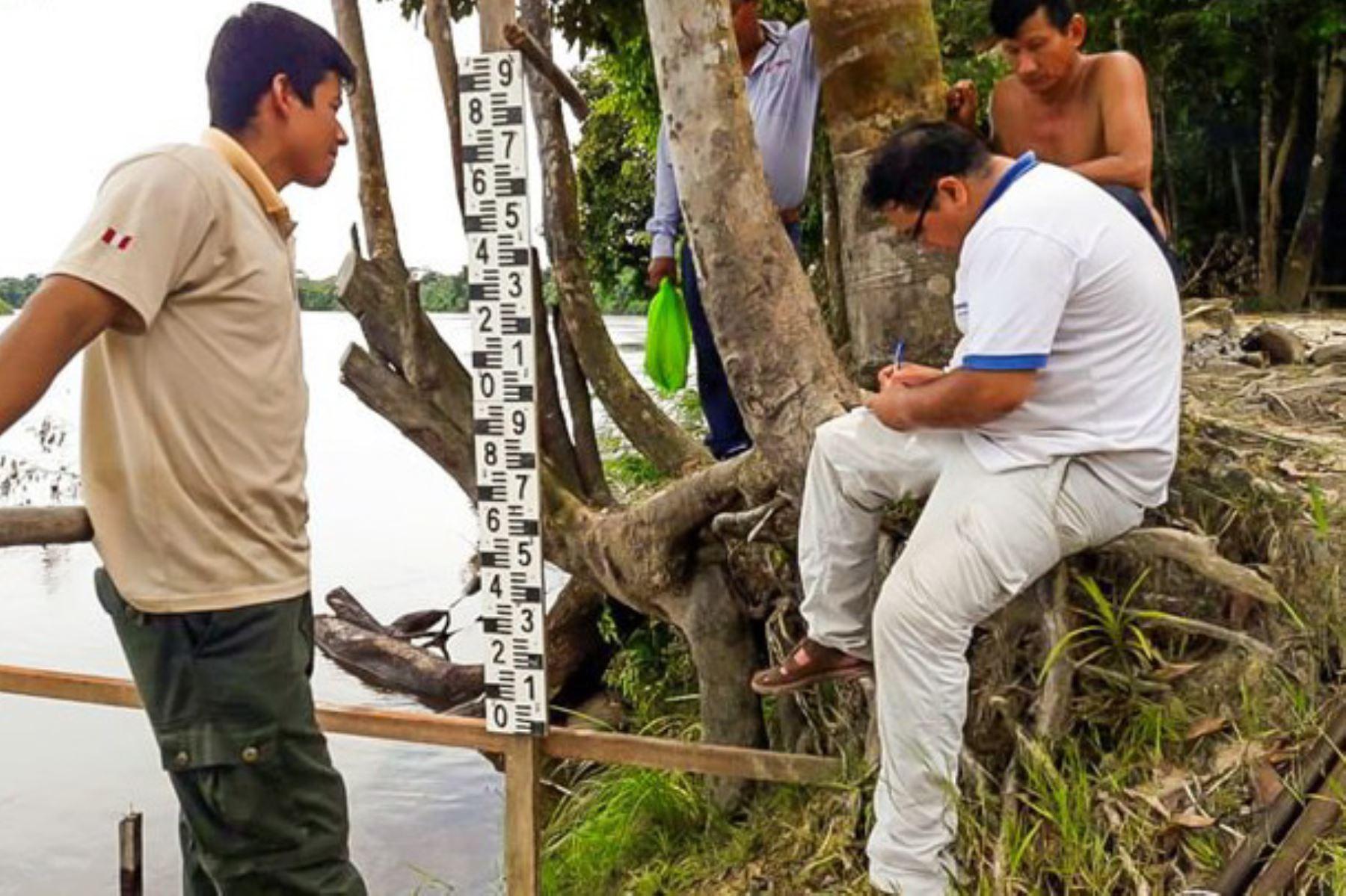 Instalan primera estación hidrométrica de la Reserva Nacional Allpahuayo Mishana, en la región Loreto.