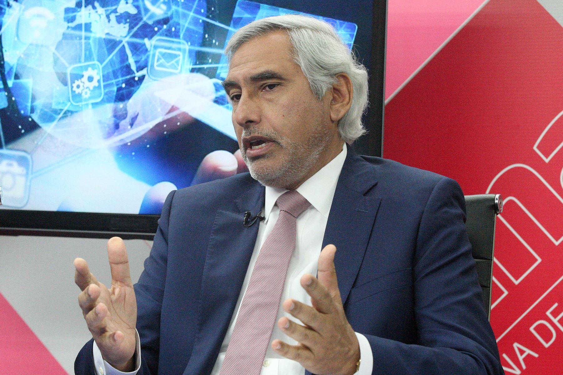 Presidente de Perucámaras, Carlos Durand. ANDINA/Héctor Vinces