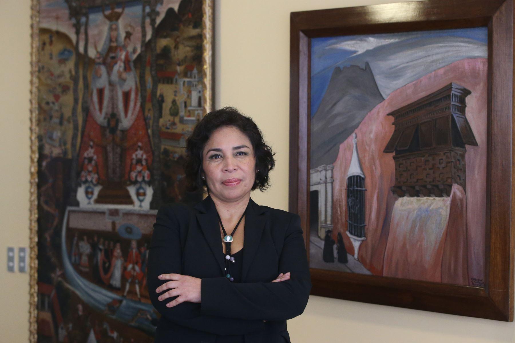 Ministra de Cultura Patricia Balbuena ANDINA/Vidal Tarqui