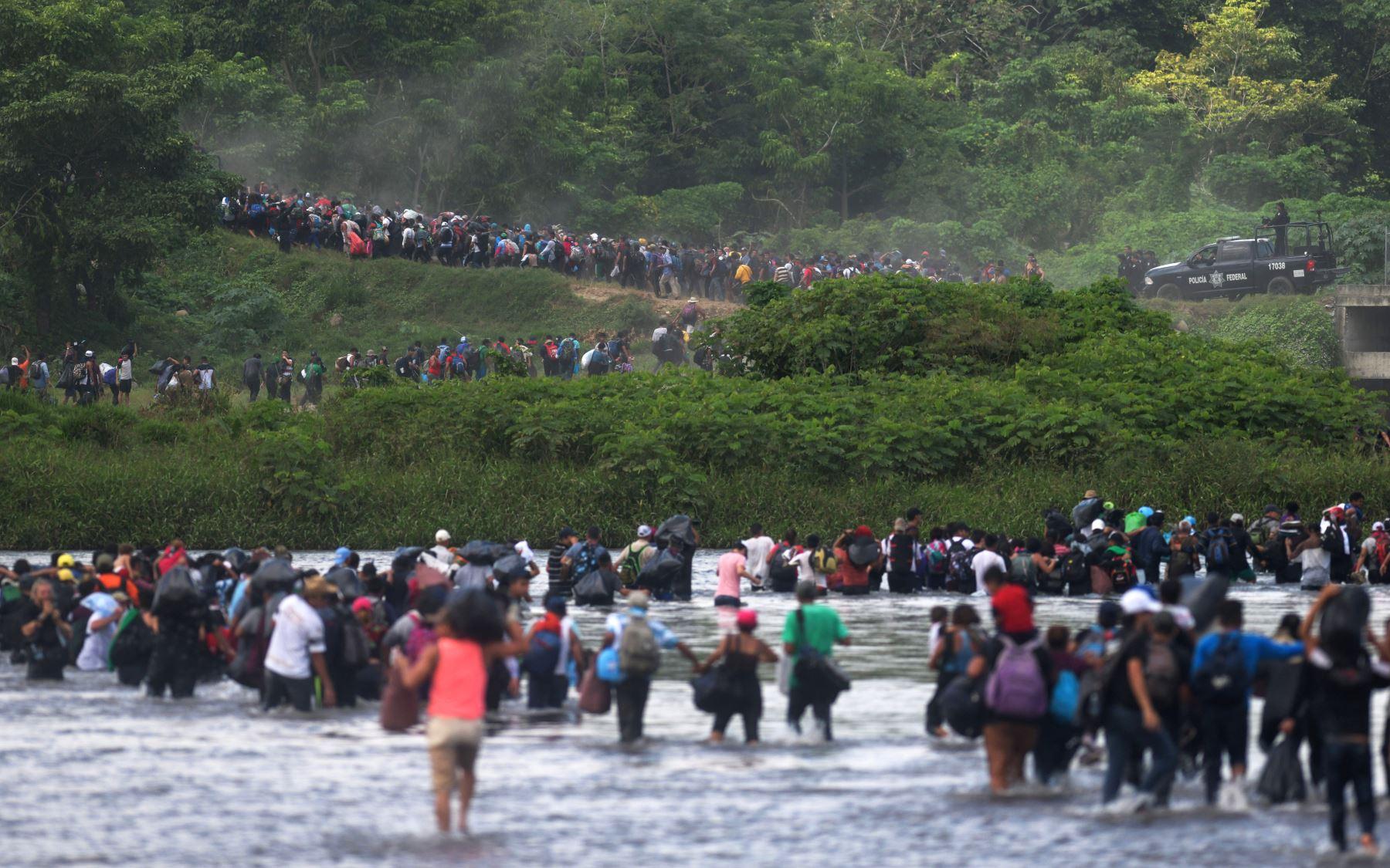 Caravana de migrantes Foto: AFP