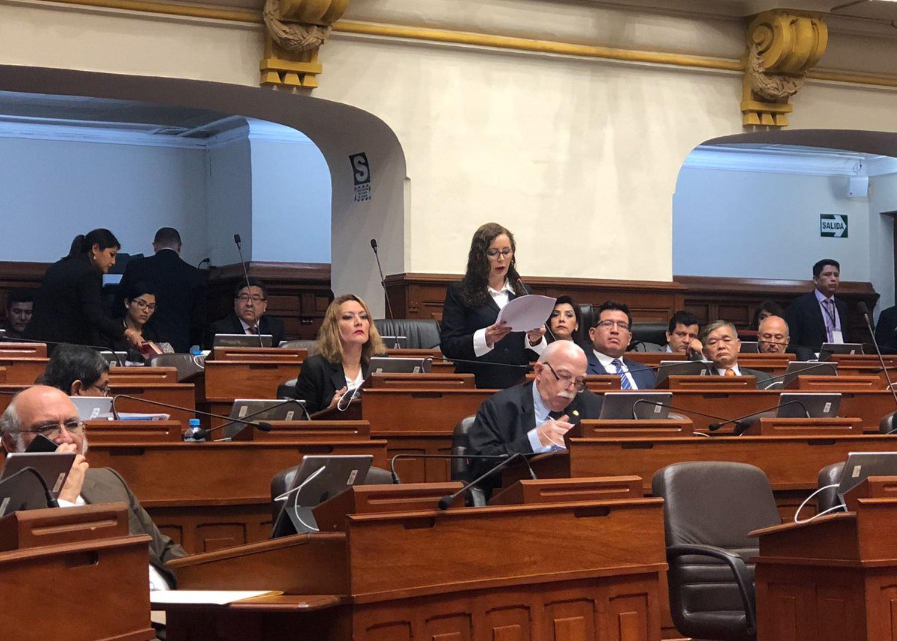 Presidenta de la Comisión Lava Jato, Rosa Bartra. Foto: Difusión.