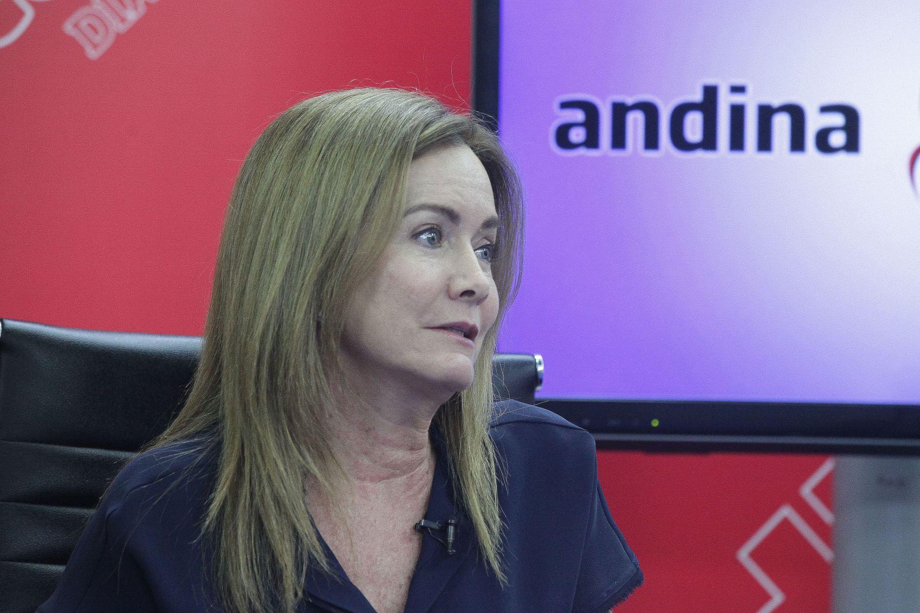 Exministra de Educación, Marilú Martens. ANDINA/Héctor Vinces