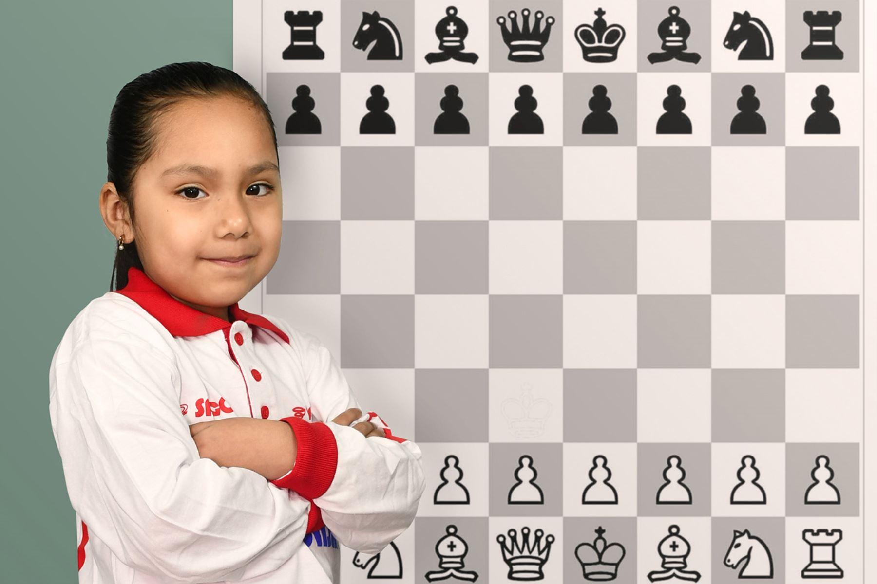 Irina Rojas, pequeña ajedrecista peruana, tiene un gran futuro. Foto: Andina/Difusión