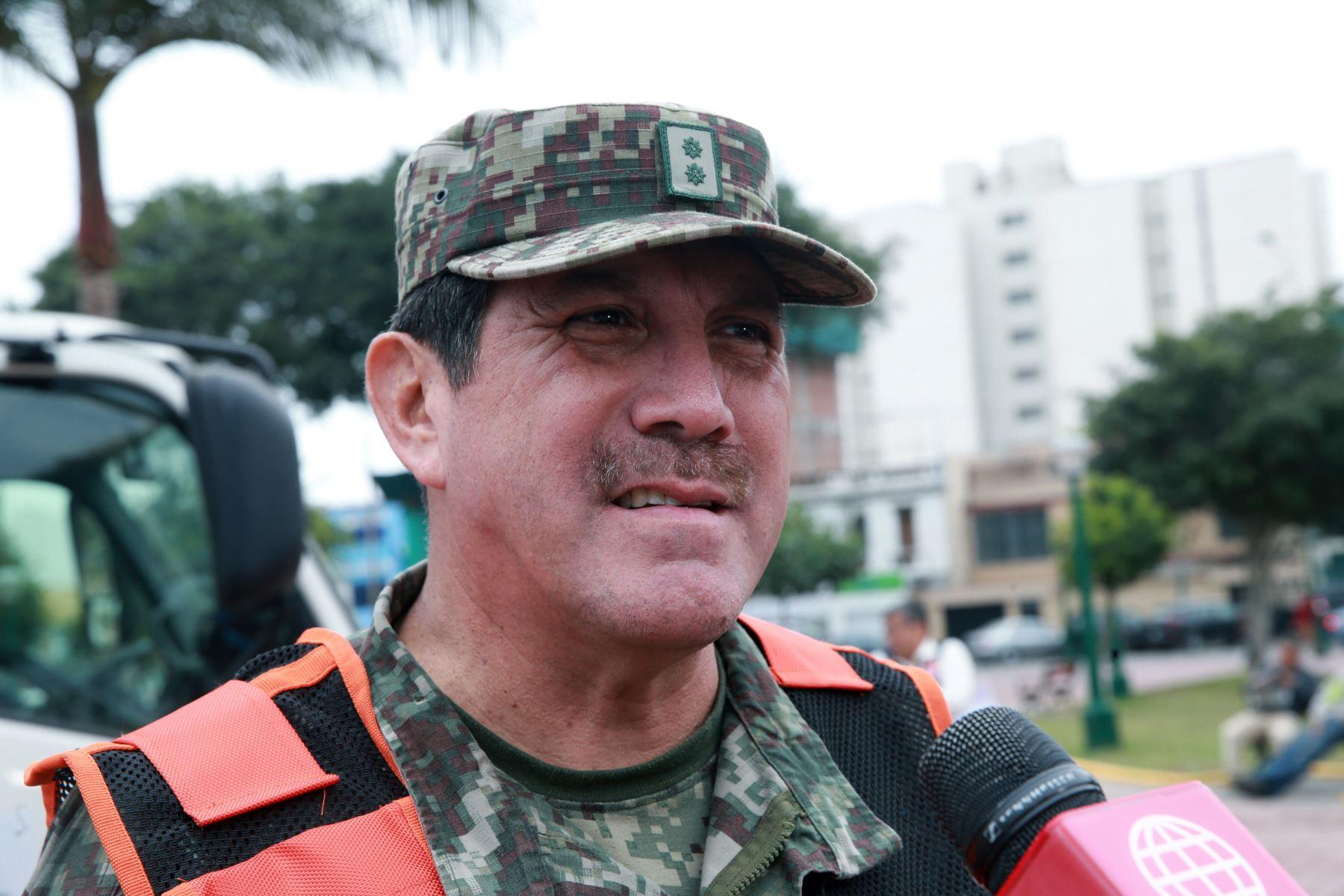 Jorge Chavez Cresta  general de brigada EP Jefe de Indecí  Foto: ANDINA/Norman Córdova