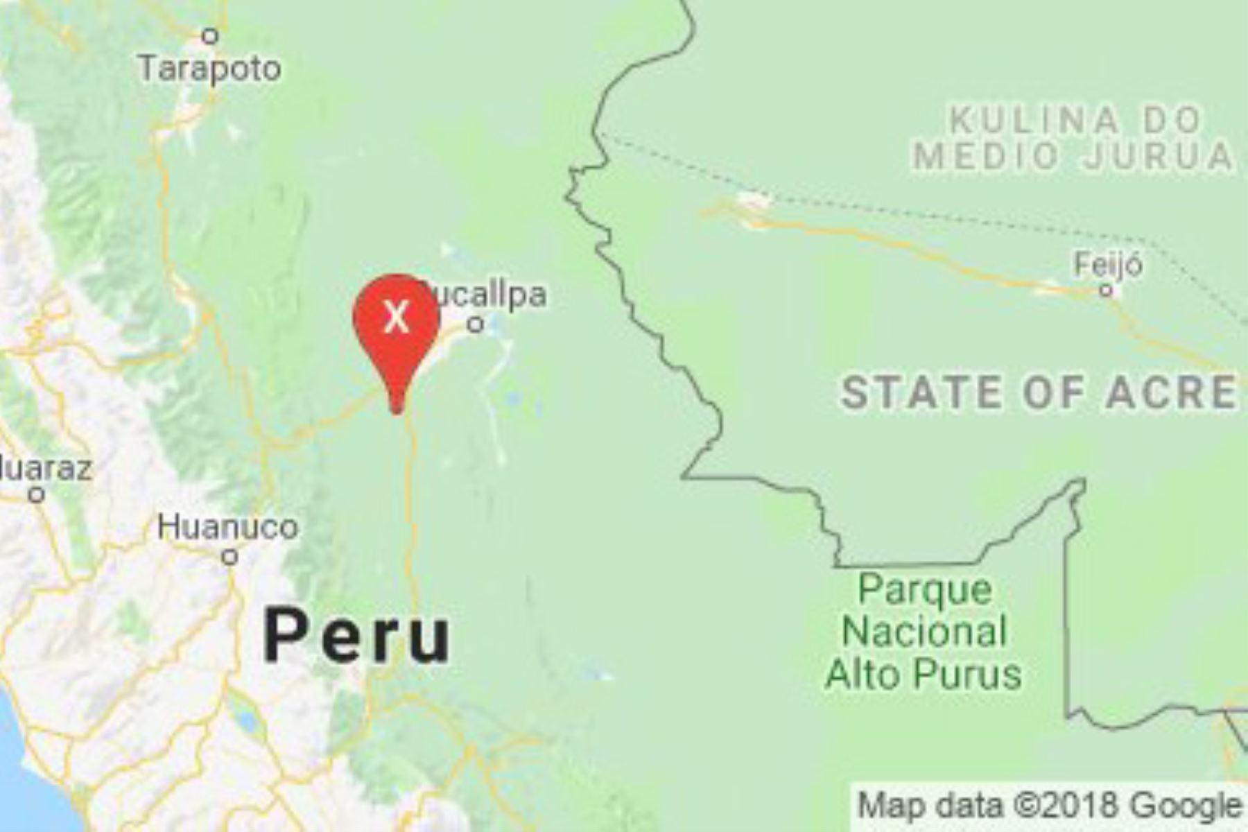 El Instituto Geofísico del Perú reportó un sismo de magnitud 4.2 se registró esta tarde en la localidad de Aguaytía, capital de la provincia de Padre Abad, en la región Ucayali.
