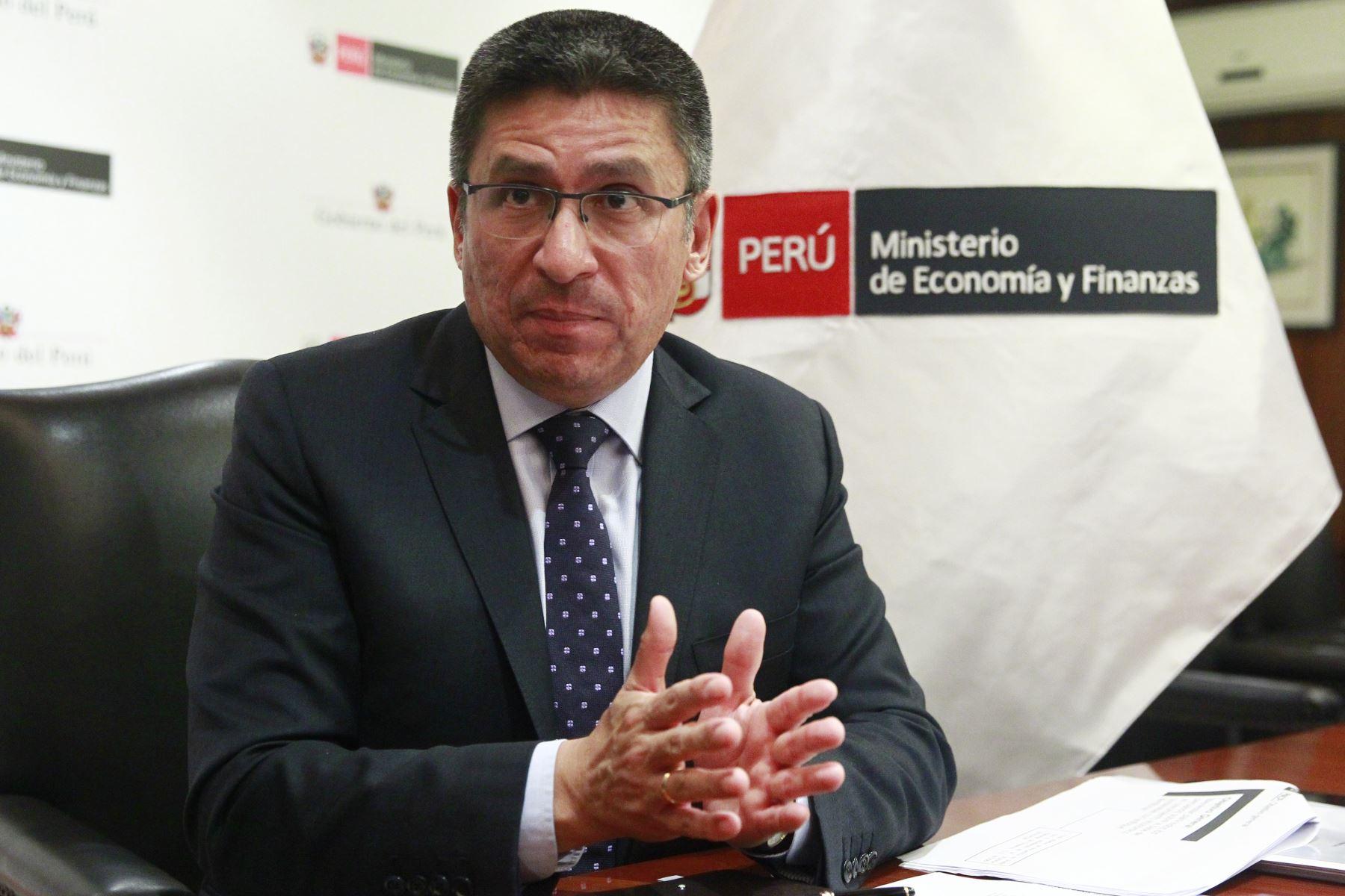Viceministro de Economía, Hugo Perea. ANDINA/Eddy Ramos