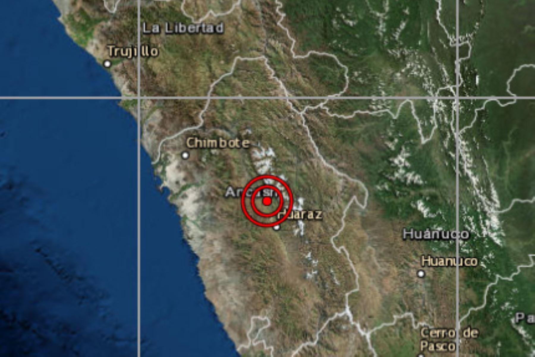En la provincia de Carhuaz, región Áncash, se registró el cuarto sismo que reporta el IGP en lo que va del día.