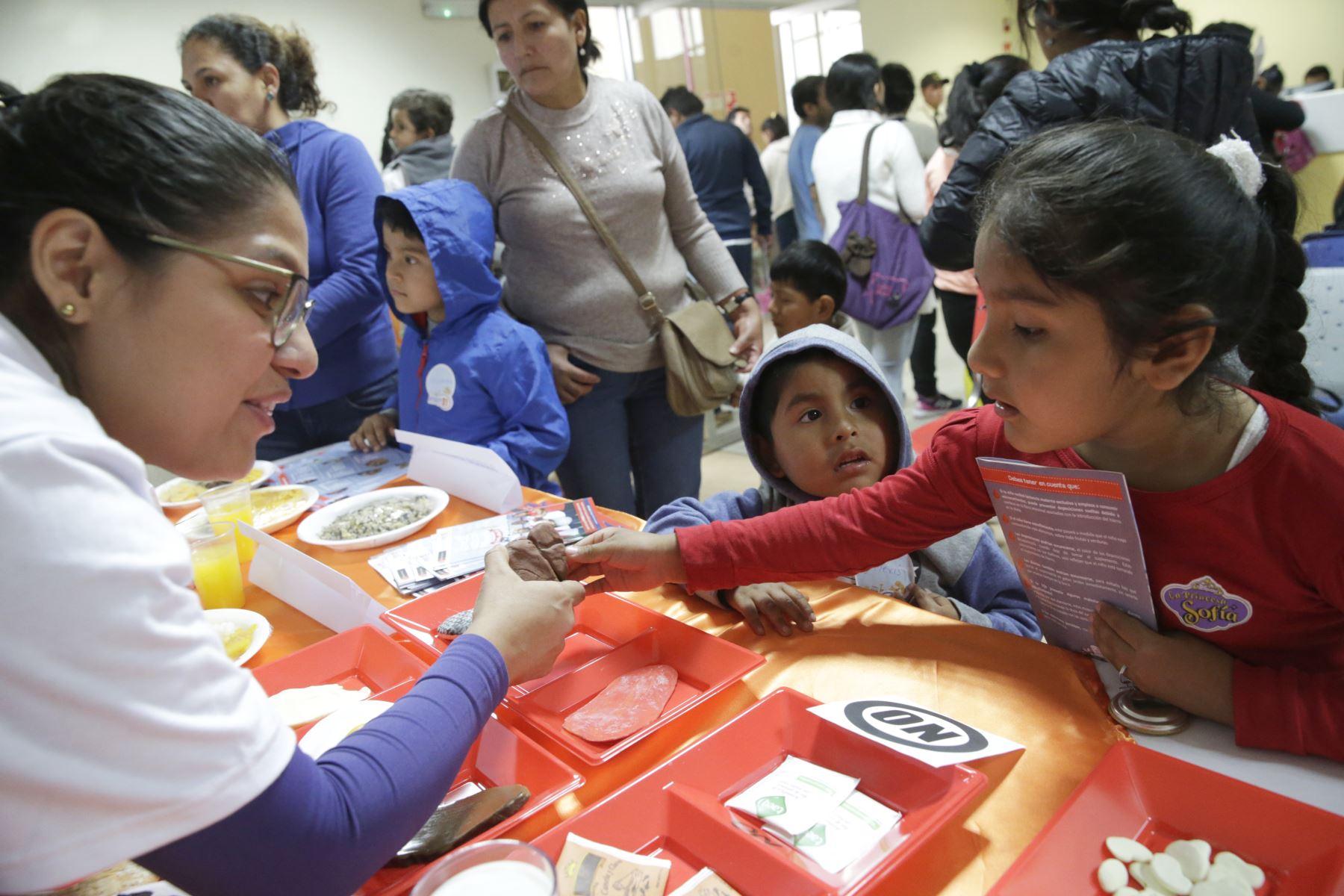 Instituto de Salud del Niño de San Borja inaugura módulo de despistaje de anemia, que garantiza que cada paciente pediátrico pase primero por un despistaje.  Foto: ANDINA/Melina Mejía